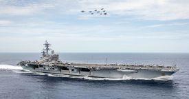 Военно-морские силы США снимают противоторпедную защиту с авианосцев