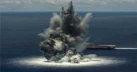 Боевой корабль прибрежной зоны LCS-6 завершил испытания на воздействие подводного взрыва