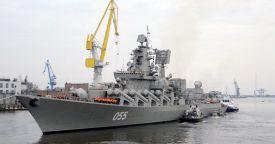 Крейсер «Маршал Устинов» завершил первый выход в море