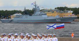 Главный военно-морской парад прошел в России в День ВМФ