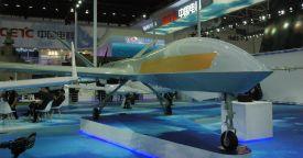 Китай впервые представил БЛА WJ-300 с бортовой РЛС с АФАР