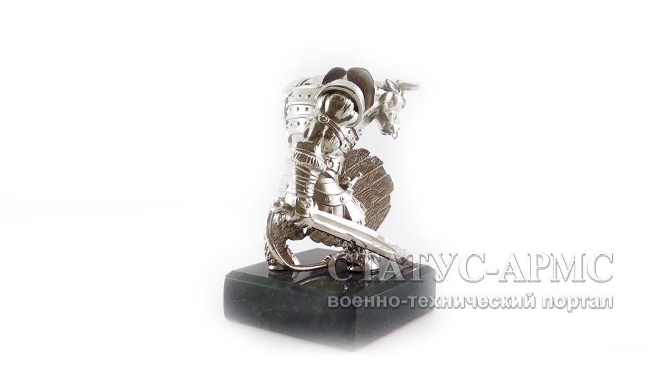 Статуэтка МЕТАЛЛИЧЕСКИЙ БЫК никелированный